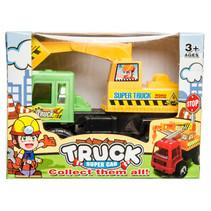 truck Super Car jongens 14 cm groen/geel