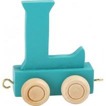 treinletter L blauw 6,5 cm