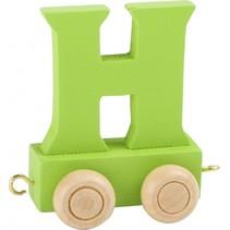 treinletter H groen 6,5 cm
