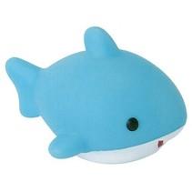 oplichtende baddiertje orka lichtblauw/wit
