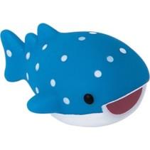 oplichtende baddiertje walvis blauw/wit