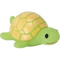 oplichtende baddiertje schildpad groen/geel