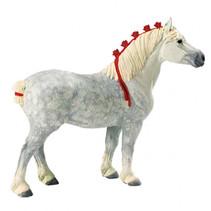 boerderijdier Percheron Wallach 12,5 cm wit/rood