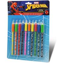 potloodset Spider-Man junior 20 x 25 cm hout 10 stuks