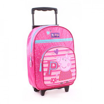 trolley rugzak junior 16 liter polyester roze