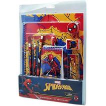 schrijfset Spider-Man jongens rood/donkerblauw 11-delig