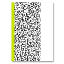schrift Kixx harde kaft lijn A4 papier zwart/wit/geel