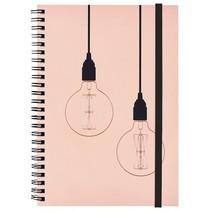notitieboek A5 dots met ringband roze