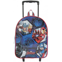 trolley-rugzak Avengers jongens 31 cm polyester blauw