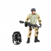 speelset soldaat met accessoire antenne 8-delig 11 cm