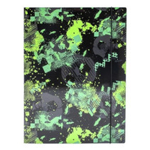 elastomap junior Riff A4 zwart/groen