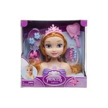 kaphoofd prinses meisjes 21,5 cm koper 9-delig