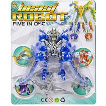 speelfiguur Beast Robot jongens 12 cm blauw