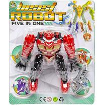 speelfiguur Beast Robot jongens 12 cm rood