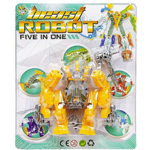 speelfiguur Beast Robot jongens 12 cm geel