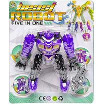 speelfiguur Beast Robot jongens 12 cm paars