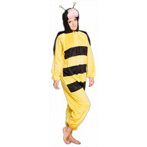 volwassenenkostuum Bij polyester zwart/geel one size