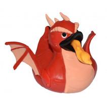 badeend draak junior 10 cm rood/roze