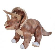 knuffel Triceratops 63 cm pluche bruin