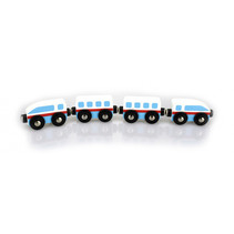 speelgoedkogeltrein jongens blauw/rood/wit hout 4-delig