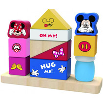 blokkenset Mickey Mouse junior 1,85 x 1,4 cm hout 12 stuks
