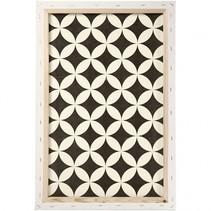 canvas patroon 40 x 60 x 1,7 cm wit