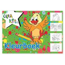 kleurboek junior A4 papier wit/groen 24 kleurplaten