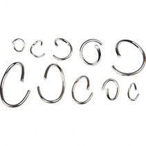 ovale en ronde ringen 3-13 mm zilver 800 stuks