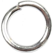 ronde ring 0,7 x 3 x 4,4 mm zilver 500 stuks