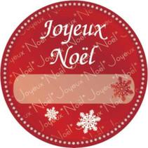 etiketten ''Joyeux Noël'' 1000 stuks rood