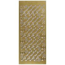 stickers Konfirmation 10 x 23 cm goud