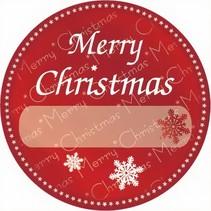 etiketten rood ''Merry Christmas'' 1000 stuks