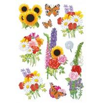 etiketten 10 stuks 16 x 9 cm bloemen & vlinders