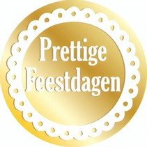 etiketten goud ''Prettige Feestdagen'' 1000 stuks