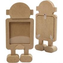 fotolijst Robot hout 17 cm bruin per stuk