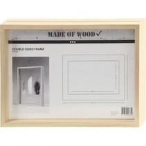 dubbelzijdige lijst hout 22,1 x 30,8 cm