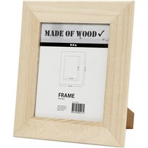 houten fotolijst met standaard 25 x 22 cm