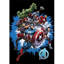 fleecedeken Avengers 100 x 140 cm multicolor