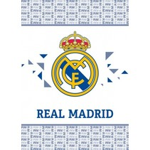 fleecedeken Real Madrid 110 x 140 cm wit