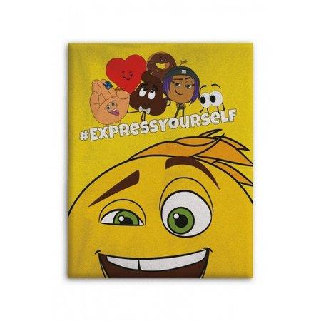 Emoji fleecedeken Emoji the movie 100 x 140 cm geel