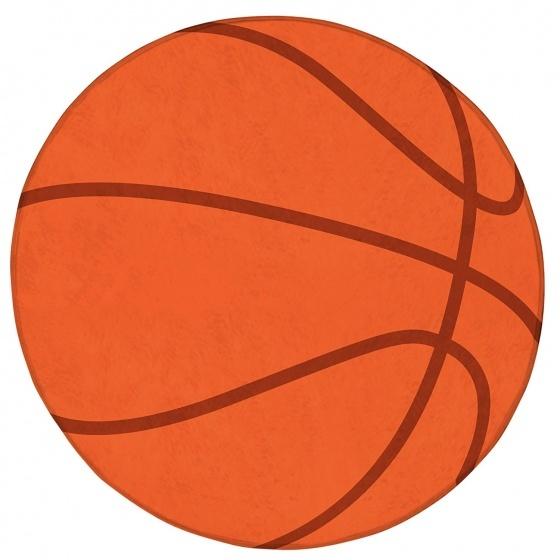 Achoka vloerkleed basketbal 75 cm oranje