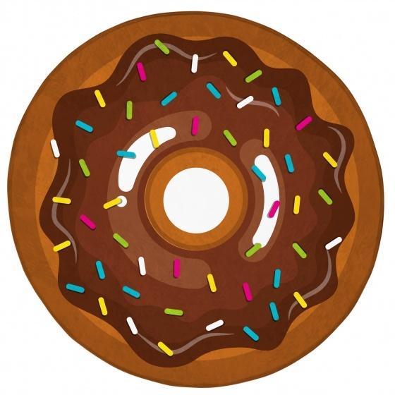 Achoka vloerkleed donut 75 cm bruin