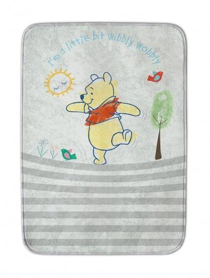 Achoka vloerkleed Winnie the Pooh 70 x 95 cm ivoorwit
