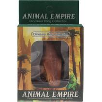 ring tyrannosaurus 7 x 8 cm rubber bruin