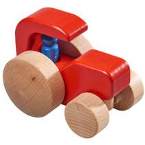tractor jongens 15 x 10 cm hout rood/blank