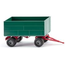 miniatuurtrailer Agricultural 1:87 groen