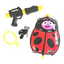 waterpistool met tank 35,5 cm rood/zwart 5-delig