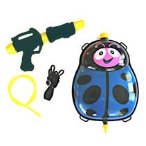waterpistool met tank 35,5 cm blauw/zwart 5-delig