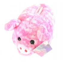 spaarpot varken meisjes 18 cm pluche roze/wit