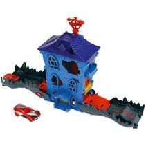 racebaan krokodillenhuis jongens blauw 3-delig